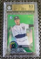 2018 GLEYBER TORRES BOWMAN CHROME TOP 100 GREEN REFRACTOR /99 BGS 9.5 RC YANKEES