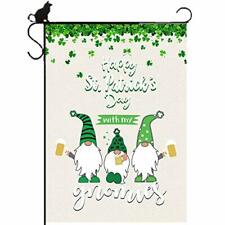 St Patrick's Day Garden Flag - Yard Outdoor Vertical 12.5 x 18 Inch, Gnome