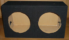"10 ""DOUBLE / TWIN SIGILLATO SUBWOOFER AUTO Enclosure SUB BASS BOX VUOTO MDF Nero"