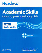 HEADWAY Academic Skills 2 Listening Speaking & Study Teacher's Guide with CD NEW