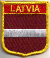 Latvia Country Flag Embroidered Patch T7