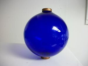 6.5'' BLUE GLASS BALL for weathervanes OR LIGHTENING RODS