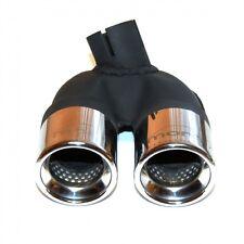 Smart 451 Benziner ab 4.07 - 10.10 2x 60mm Doppelendrohr aus Edelstahl + Schelle