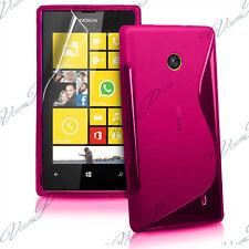 ACCESSOIRES HOUSSE ETUI COQUE SILICONE GEL TPU S FILM ROSE Nokia Lumia 520