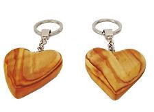 Schlüsselanhänger Herz 2er Set 50x50mm Herzanhänger braun Herzen Partnerschmuck