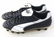 76f7b77e98b Puma Mens King SL I FG Firm Ground Leather Soccer Cleat Black White Gold Size  7