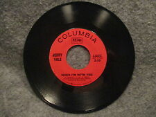 """45 RPM 7"""" Record Jerry Vale When Im With You Dont Tell My Heart To Stop 4-44432"""