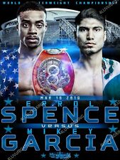 Errol Spence Jr vs Mikey Garcia 4LUVofBOXING Boxing Poster BK 11x17 New