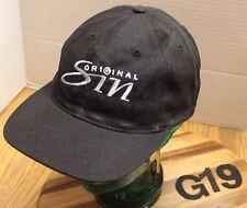 BLACK ORIGINAL SIN HAT EMBROIDERED SNAPBACK ADJUSTABLE GOOD CONDITION G19