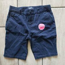 Nwt Children's Place Stretch Navy Uniform Girl's Shorts Size 8 Adjustable Waist