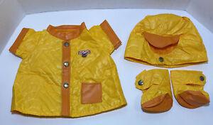 Vintage Teddy Ruxpin Clothes RAIN OUTFIT 4 piece Worlds of Wonder 1985 set EUC