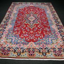 Orient Teppich Rot 294 x 207 cm Blau Perserteppich Handgeknüpft Red Carpet Rug