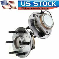 Pair of 2 Front Driver and Passenger Wheel Hub and Bearing For Chevrolet GMC-ABS