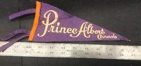 Vintage Felt Pennant Flag Prince Albert  Canada