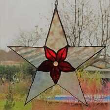 Fensterdeko: Tiffany Antikglas Weihnachtsstern, 26cm