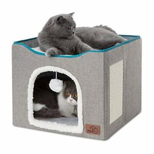 Cat Cube Kitty Bed Cat House Condo for Indoor or Outdoor Cats Large Cave for Pet