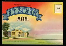 Postcard Folder Arkansas AR Fort  Ft. Smith Sebastian County Court House Linen