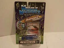 N 97 TOYOTA SUPRA Blue Muscle Machines 1:64 Scale Diecast Import Tuner