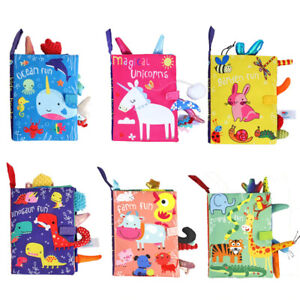 Baby Early Learning Toy Tail Cloth Book Parent-Child Interactive Cloth Books