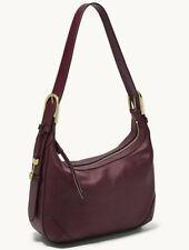 Fossil Hannah Hobo Shoulder Bag Fig Leather ZB7888503 Wallet