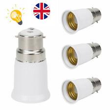 1xBC B22 to ES E27 Bayonet Edison Light Bulb Adaptor Lamp Socket Extender Conver
