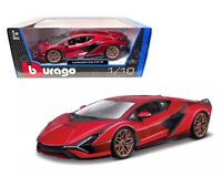 BBURAGO 1:18 2020  RED LAMBORGHINI SIAN FKP 37  DIECAST MODEL CAR 18-11046RD