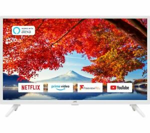 """JVC LT-32C606 32"""" Smart HD Ready HDR LED TV with Built-in DVD Player - White"""