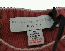 Stella McCartney Baby Knitted Peach Cream Cashmere All In One 18 Months BNWT