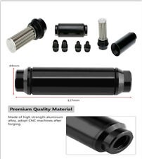 44mm Car Fuel Filter Inlet Outlet Flow Filter+AN6 &AN8 Adaptor Universal N2G6 x1