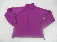 Columbia Jacket Womens Large Purple Pink Full Zip Outdoors Fleece Casual Ladies