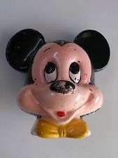Vintage Ceramic Mickey Mouse Disney Piggy Bank Made in Japan Enesco