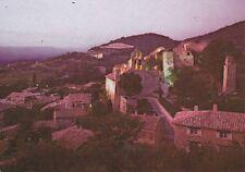 GIGONDAS petit village aux dernières lueurs d'une journée de mistral timbrée 87