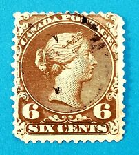 Canada stamp Scott #27 used. Well centered with good colors, perfs.