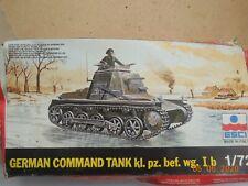 ESCI GERMAN COMMAND TANK kl.pz.bef.wg IB IN 1/72 SCALE