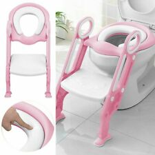 Toddler Toilet Chair Kids Potty Training Seat with Step Stool Ladder for Kids