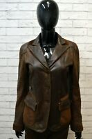 EMPORIO ARMANI Giacca in Vera Pelle Donna Taglia S Giubbotto Jacket Leather Top
