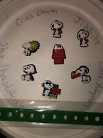 Snoopy Lot Of 7 + Kid Bracelet 4 Crocs Shoe Charms,Lace Adapter Charms,Jibbitz