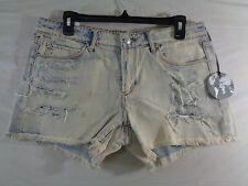 Women's Articles of Society Madre Distressed Shorts in Storm Size 30