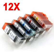 12x Ink Cartridge PGI 5BK CLI 8 for Canon PIXMA MP520 MP600 MP800 MP610 Printer