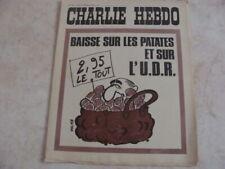 CHARLIE HEBDO- N°108-11/12/1972-BAISSE SUR LES PATATES ET SUR L UDR
