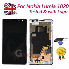 For Nokia Lumia 1020 LCD Touch Screen Glass Replacement - frame Black