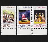 1977 Pitcairn Islands Silver Jubilee Set Sc#160-2 Margin Mint Never Hinged
