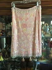 Valentino Silk Pink Beaded, Sequenced, Skirt Size 6