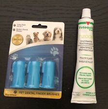 Pet Republique pet dental finger brushes Pack of 3 Dogs Cats, enzyme toothpaste