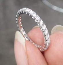 DEAL! 1.10CT NATURAL ROUND DIAMOND LADIES ETERNITY WEDDING BAND RING 14K GOLD.