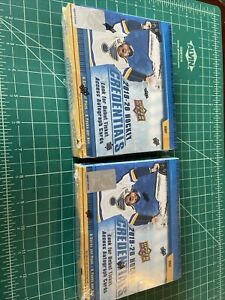 2019-20 UPPER DECK CREDENTIALS HOCKEY FACTORY SEALED HOBBY BOX Lot Of 2 Boxes A