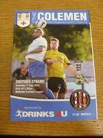 17/09/2016 Coleshill Town v Shepshed Dynamo  . Footy Progs (aka bobfrankandelvis