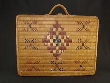 A Salish suitcase basket, Native American Indian, Circa: 1925