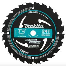 Makita 7-1/4 inch 24 Teeth Framing Circular Saw Blade 10 Pack Blades Wood Cutter