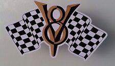 V8 RACING Sticker Decal CAR FORD HOLDEN HOT ROD RAT F1 DRAG FORMULA 1 TRUCK
